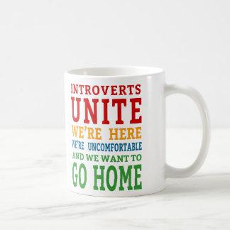 Caneca De Café Introverts unem-se - nós estamos aqui e queremos