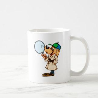 Caneca De Café Investigador privado do cão dos desenhos animados