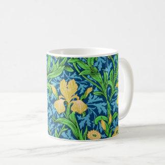 Caneca De Café Íris, amarelo e azuis cobaltos de William Morris