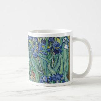 Caneca De Café Íris de Vincent van Gogh que pintam o trabalho de