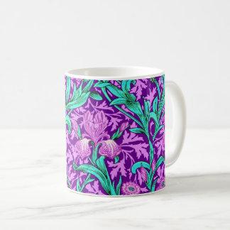 Caneca De Café Íris de William Morris, roxo Amethyst