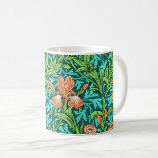 Caneca De Café Íris, laranja e turquesa de William Morris