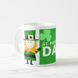 Caneca de café irlandês com design do Leprechaun
