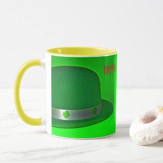 Caneca de café irlandesa da sorte