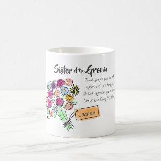 Caneca De Café Irmã do obrigado personalizado noivo você mensagem