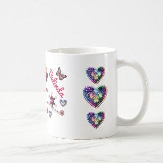 Caneca De Café Irmãs no coração LYLAS