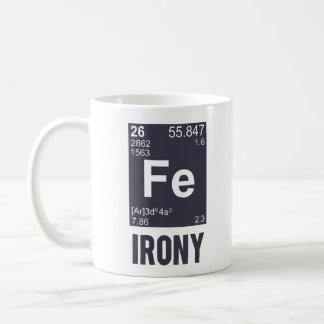 Caneca De Café Ironia irónica do FE do elemento químico