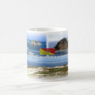 Caneca De Café Italia - Sicília - golfo de Castellammare -