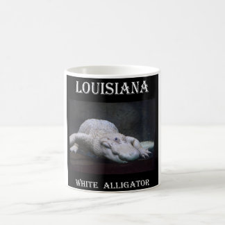 Caneca De Café Jacaré branco de Louisiana novo