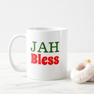 Caneca De Café Jah abençoa o leão de Rasta