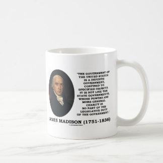 Caneca De Café James Madison Govt dos Estados Unidos especificou