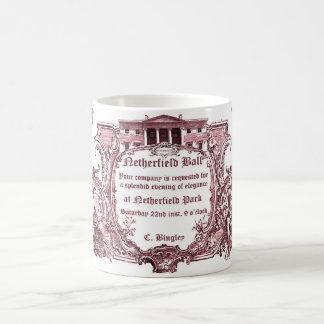 Caneca De Café Jane Austen: A bola de Netherfield convida a