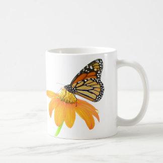 Caneca De Café Jardim floral da flor do girassol da borboleta de