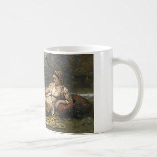 Caneca De Café Jean-Baptiste-Camilo Corot - jovens mulheres de
