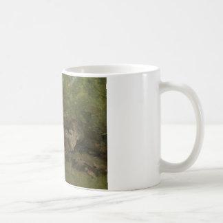 Caneca De Café Jean-Baptiste-Camilo Corot - rochas na floresta