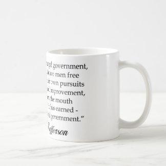 Caneca De Café Jefferson: Um governo sábio & frugal