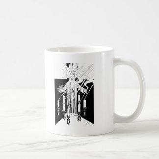 Caneca De Café Jesus no meio dos sete castiçal