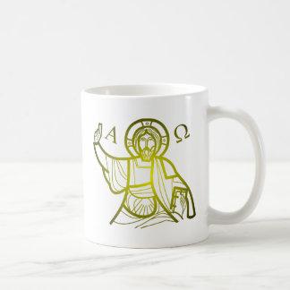Caneca De Café Jesus salvar alfa e Omega