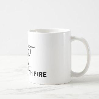 Caneca De Café Jogado com fogo