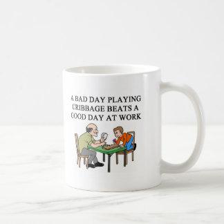 Caneca De Café jogador do jogo do cribbage