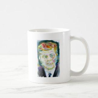 Caneca De Café John Fitzgerald Kennedy - aguarela portrait.2
