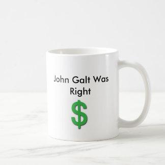 Caneca De Café John Galt era direito com sinal de dólar
