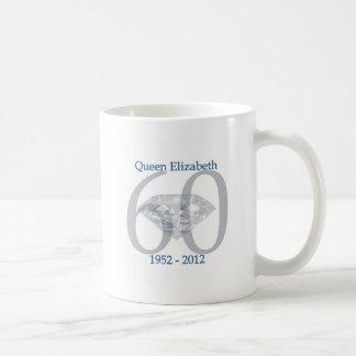 Caneca De Café Jubileu de diamante da rainha Elizabeth