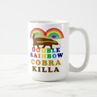 Caneca De Café killa dobro da cobra do texugo de mel do arco-íris