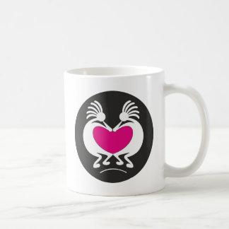 Caneca De Café Kokopelli com coração cor-de-rosa