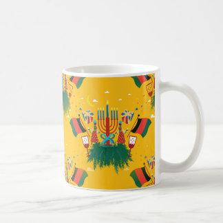 Caneca De Café Kwanzaa amarelo