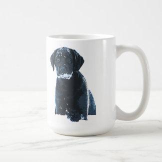 Caneca De Café Labrador preto - cristais da neve