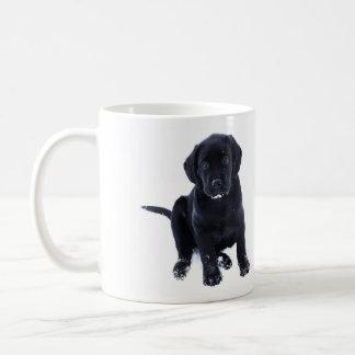 Caneca De Café Labrador preto - filhote de cachorro da neve