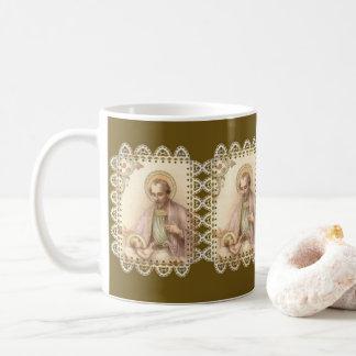 Caneca De Café Laço de Jesus do bebê de St Joseph