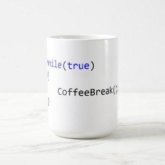 Caneca De Café Laço infinito da ruptura de café