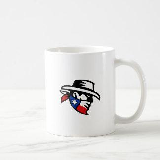 Caneca De Café Lado do vaqueiro do bandido de Texas retro