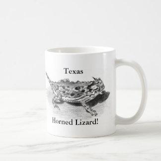 Caneca De Café Lagarto Horned de Texas, sapo Horny