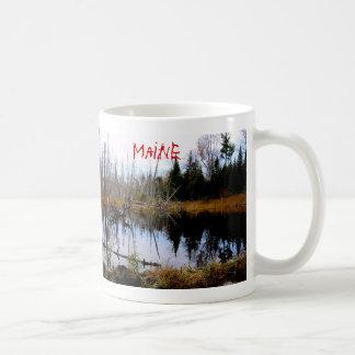 Caneca De Café Lagoa calma em Maine