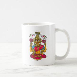 Caneca De Café Lakshmi/Shridebi na pose da meditação