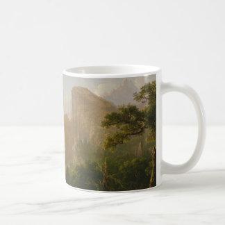 "Caneca De Café Landscape-Scene from ""Thanatopsis """
