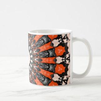 Caneca De Café Laranja e abstrato do preto