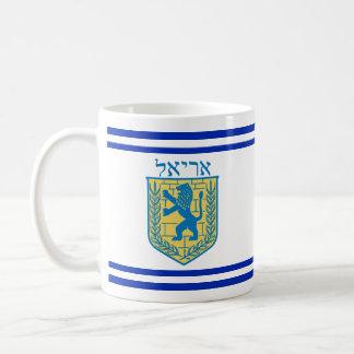 Caneca De Café Leão do hebraico de Ariel do emblema de Judah