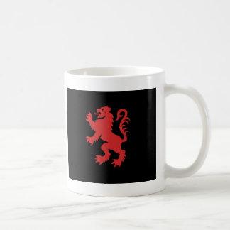 Caneca De Café Leão vermelho e preto desenfreado