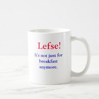 Caneca De Café Lefse!  Não é apenas para o pequeno almoço