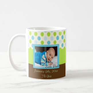 Caneca De Café Lembrança da foto do bebé das bolinhas