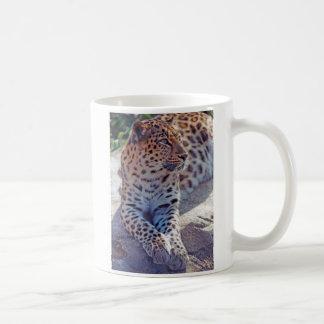 Caneca De Café Leopardo bonito -