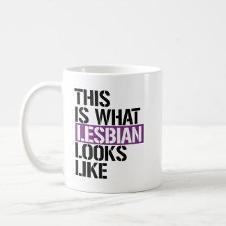 Caneca De Café Lésbica - esta é o que os olhares lésbicas gostam