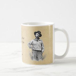 Caneca De Café ❝Let da cotação de Walt Whitman ele joy❞ do