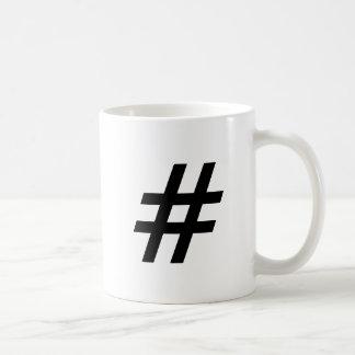 Caneca De Café letra do símbolo do texto do hashtag