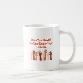 Caneca De Café Levante sua mão para cuidados médicos do