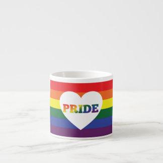 Caneca de café LGBT do arco-íris do orgulho